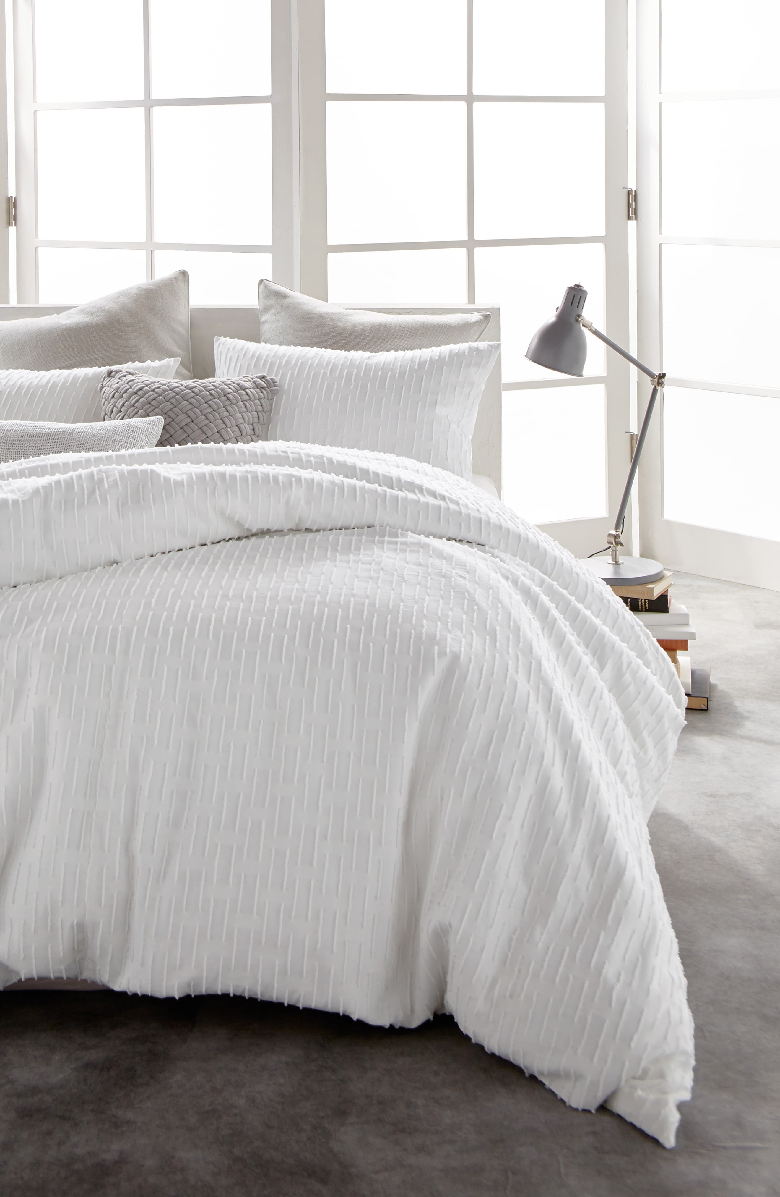 Dkny Refresh Cotton Duvet Cover Size Full Queen White Cotton