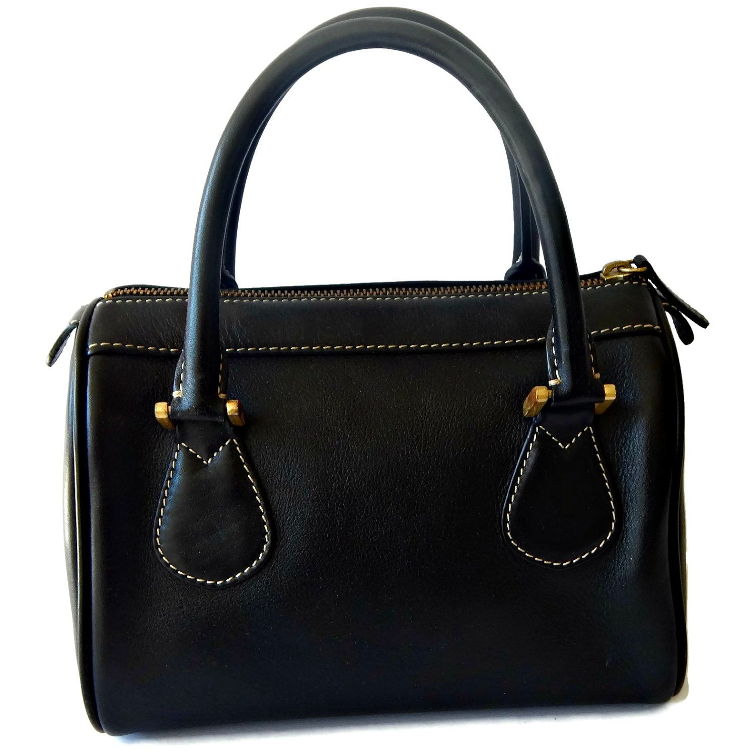 Black Leather Doctor Handbag