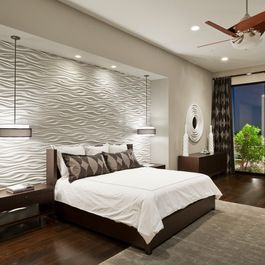 Bedroom Design Ideas, Pictures, Remodels and Decor   3D WALL PANELS ...