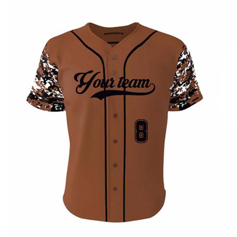 2017 stylish unisex youth sublimated camo baseball jersey