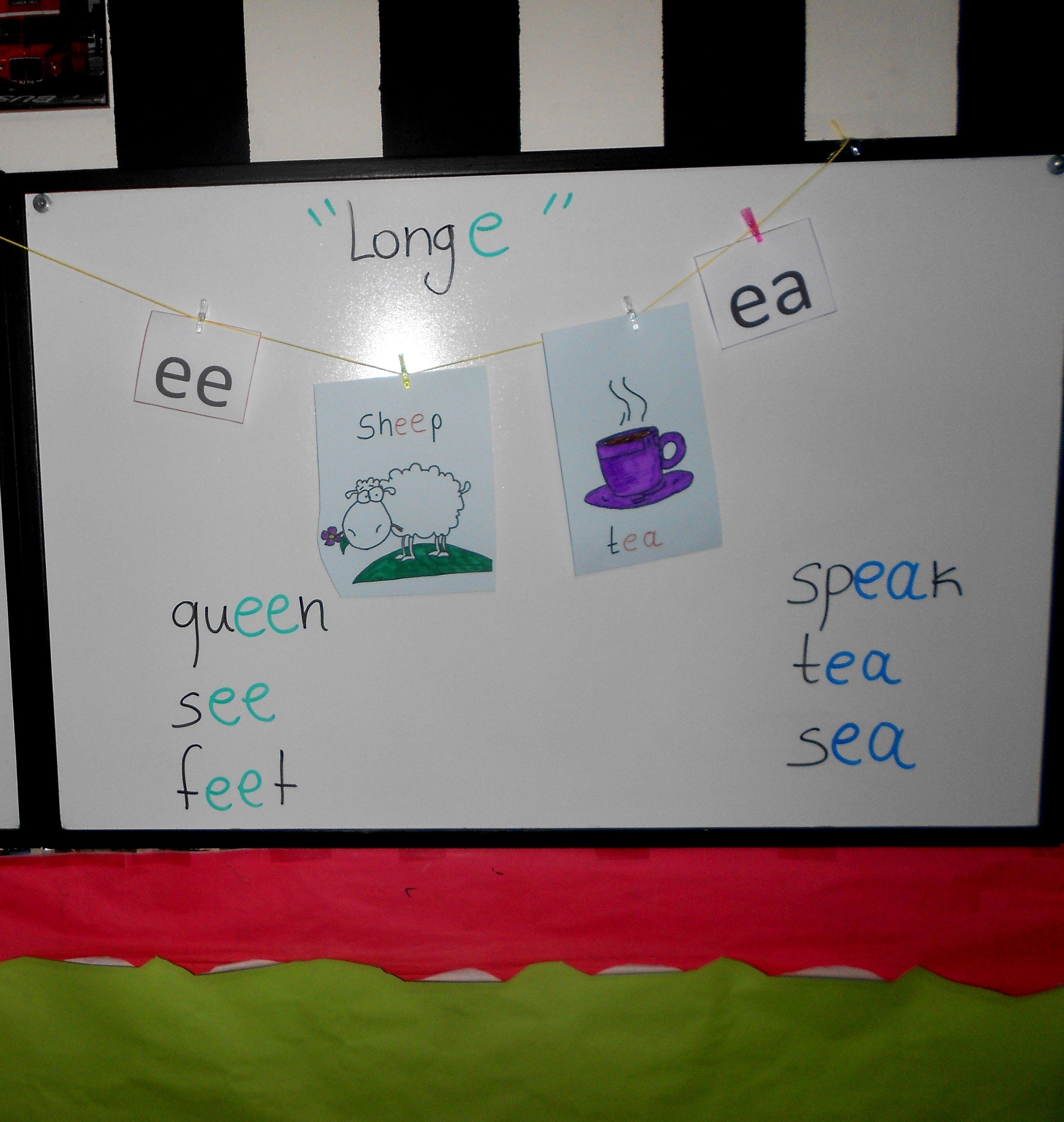 A Fun Way To Introduce The Long E Ee Ea Sound