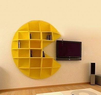 Beautiful Pac Man Bookshelf By GinePro Design Nice Look