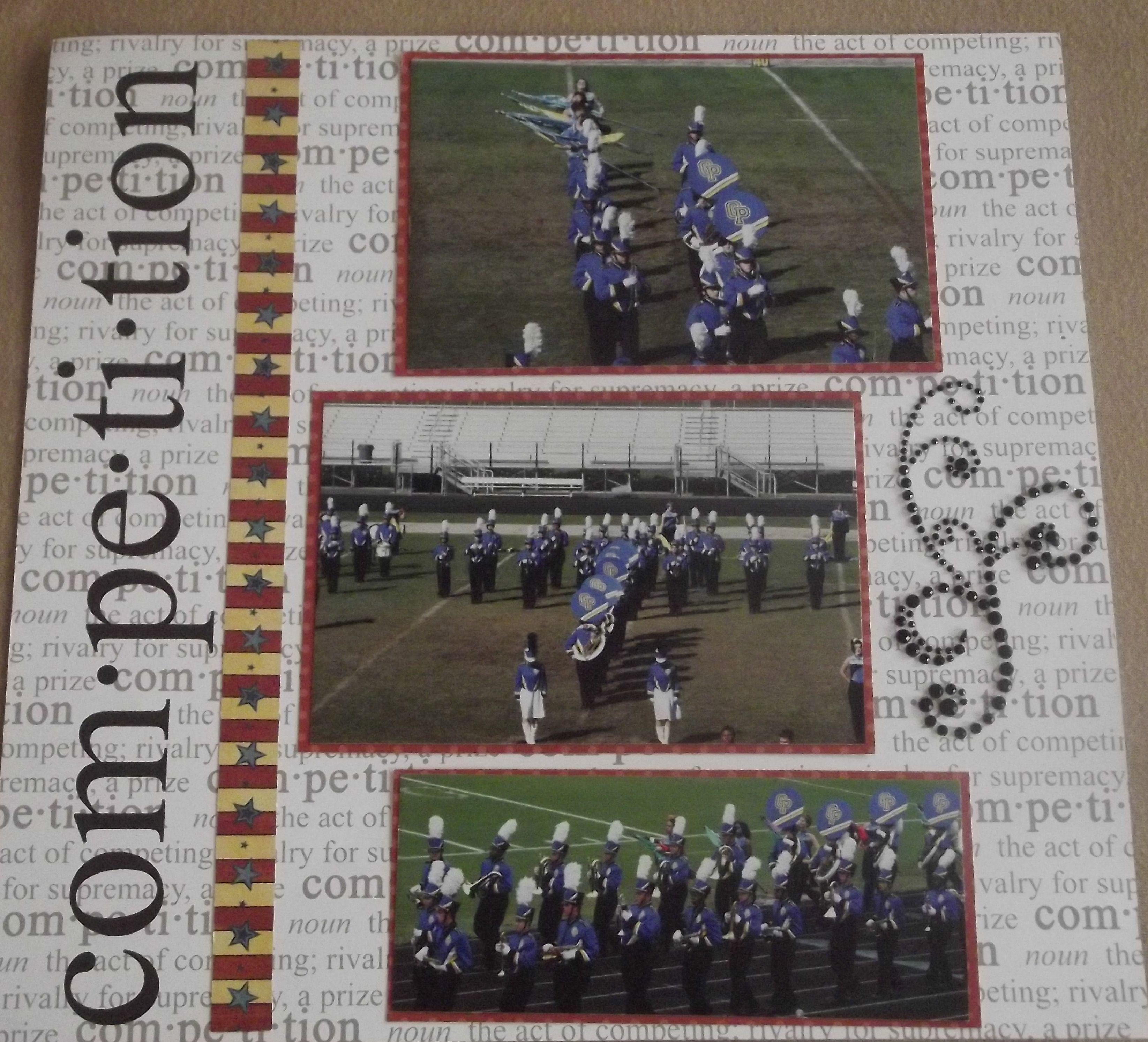Scrapbook ideas high school - High School Marching Band Layout Page 7 Scrapbook Com