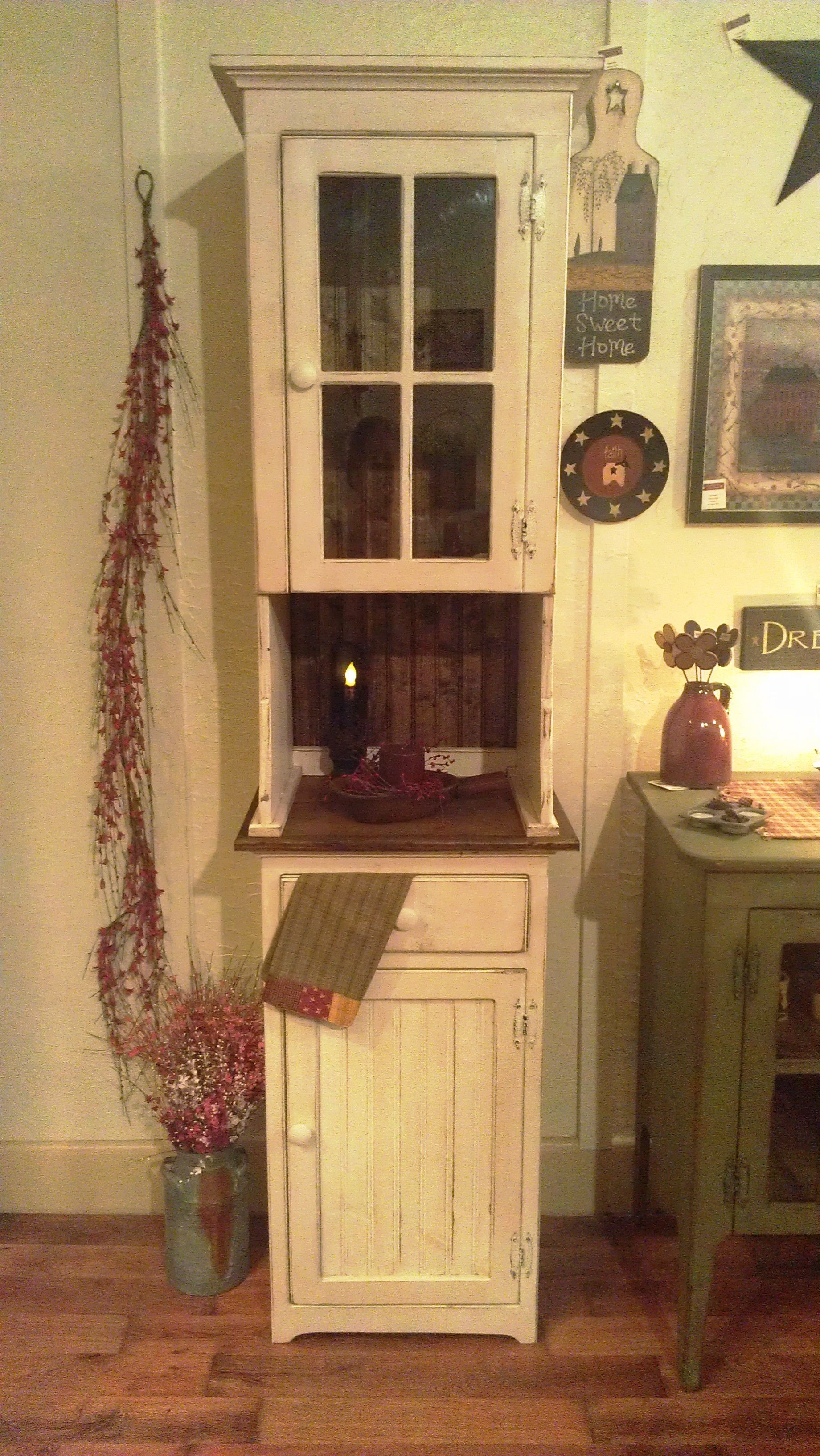 Single Door Glass Hutch  Could Make This Out Of Old Kitchen