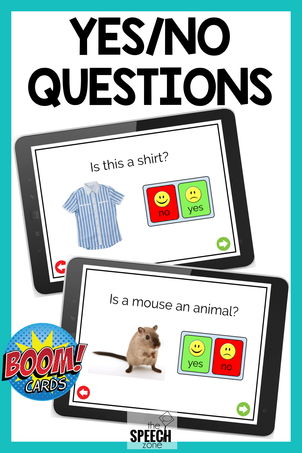 Boom Cards No Print Answering Yes No Questions