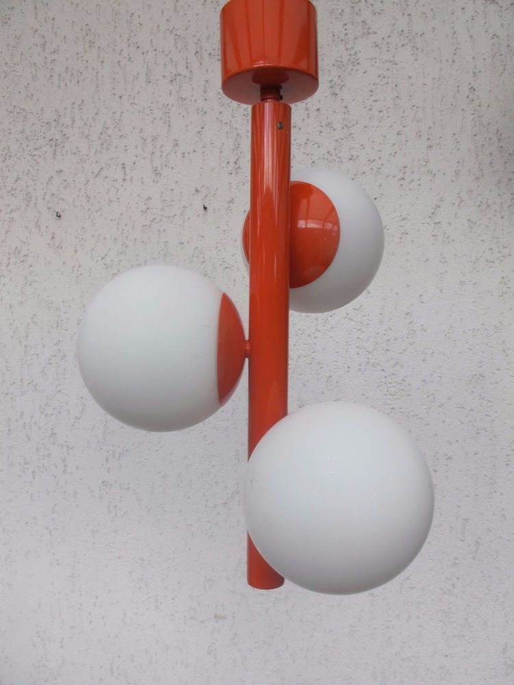 Kaiser Leuchten Sputnik Bubble Design Lampe 70s Glass Lamp 70er