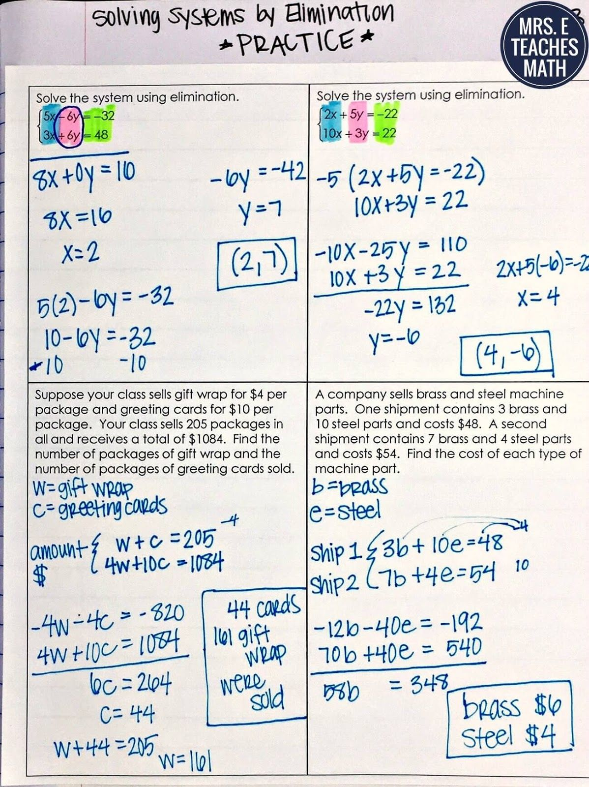 Systems Of Equations Inb Pages Studying Math Systems Of Equations School Algebra