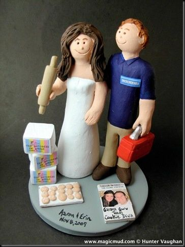 Check out >> customized wedding ceremony cake toppers: Baker's Wedding ceremony Cake Topper