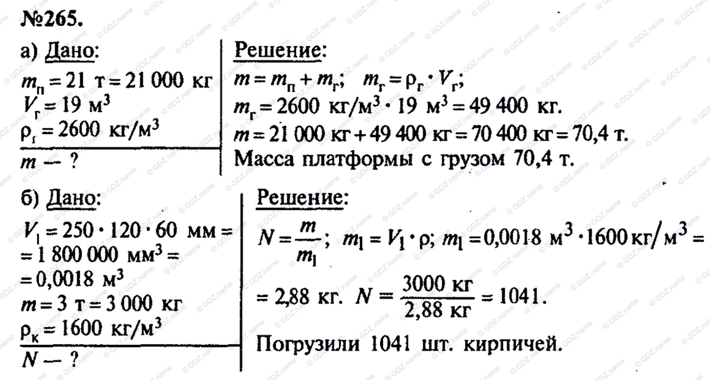 Бесплатный гдз по физике 7 класс лукашик