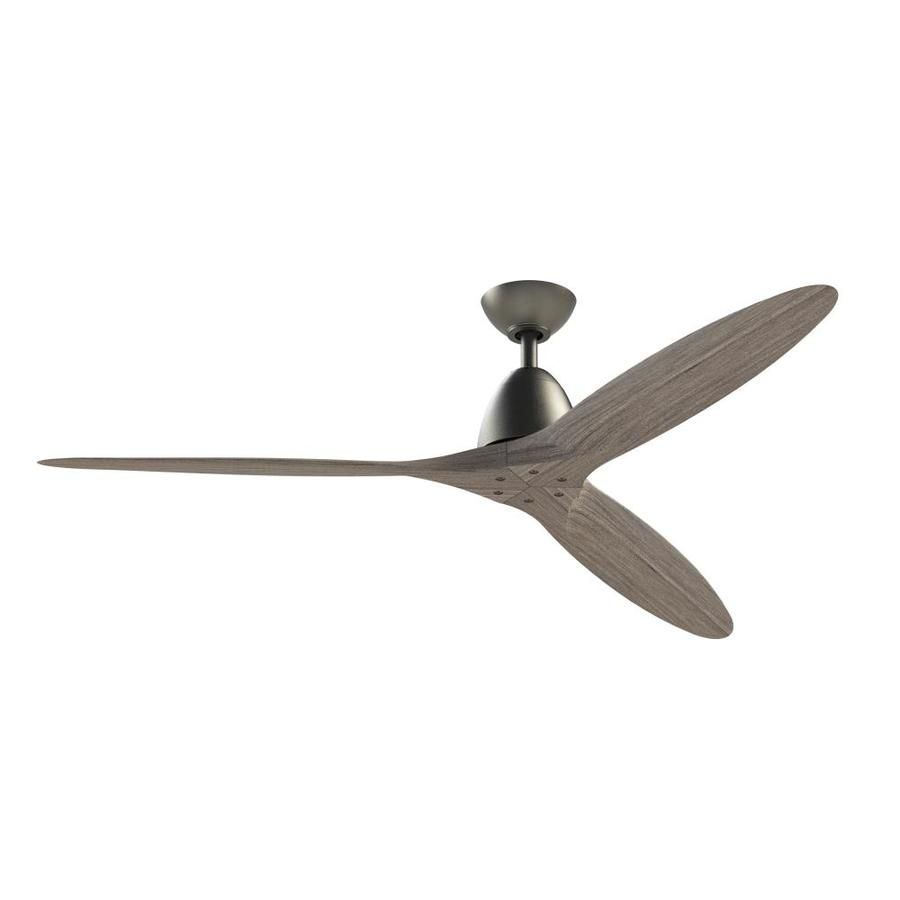 Fanimation Studio Collection Prop 60 In Matte Gray Indoor Ceiling Fan And Remote 3 Blade Lowes Com Modern Ceiling Fan Ceiling Fan Fanimation