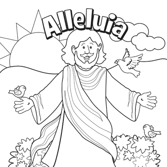 Alleluia Easter Coloring Pages Easter Colouring Free Easter Coloring Pages