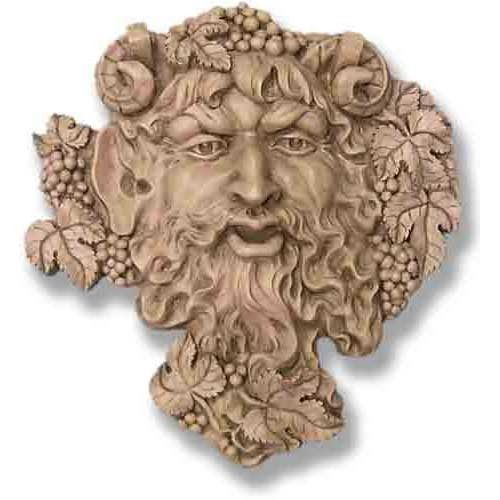 Large Bacchus Wall Plaque Green Man Bacchus Wall Plaques