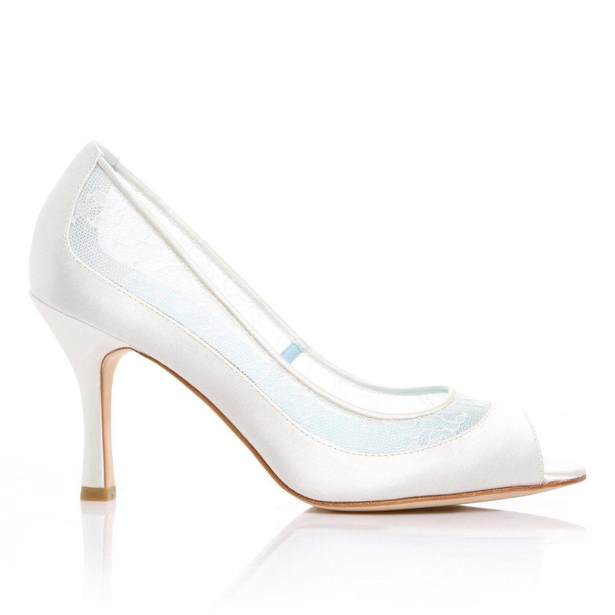 White Lace Peep Toe Wedding Shoes Peep Toe Wedding Shoes Lace