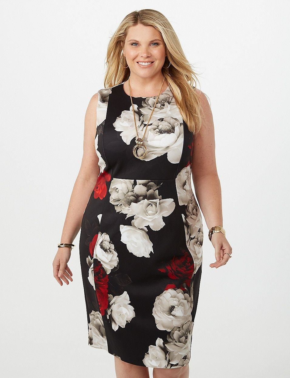 Plus Size Floral Sheath Scuba Dress | dressbarn | Shopping ...