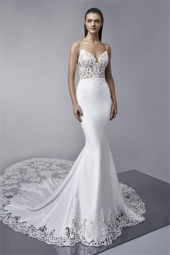 e78d89c8126d2 Find Mckinley Wedding Dress by Enzoani Available in 32 boutiques in Canada:  Ethos Bridal Boutique (Calgary), Amanda-Lina's Sposa Bridal Boutique ...