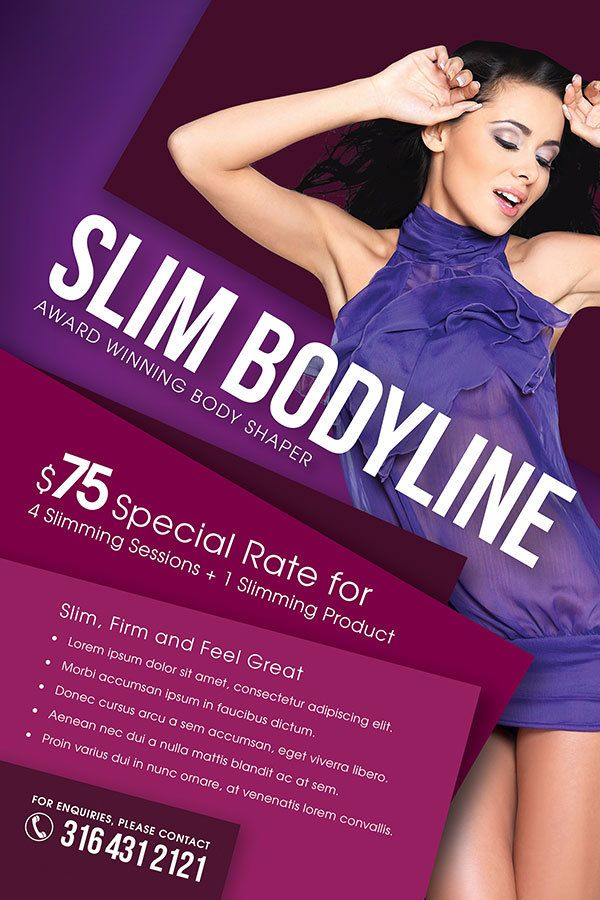 Slimming Beauty And Cosmetic Flyer  Flyer Template Cosmetics And