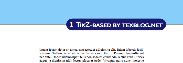Fancy Latex Chapter Styles  Texblog  Latex Templates