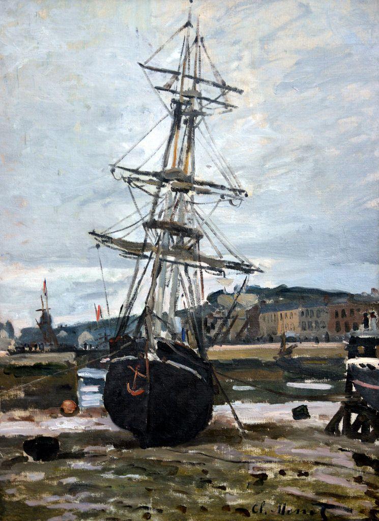 Claude Monet - Bateau échoué a Fecamp, 1868 at Kunstmuseum Winterthur  Switzerland | Monet, Tableau monet et Claude monet
