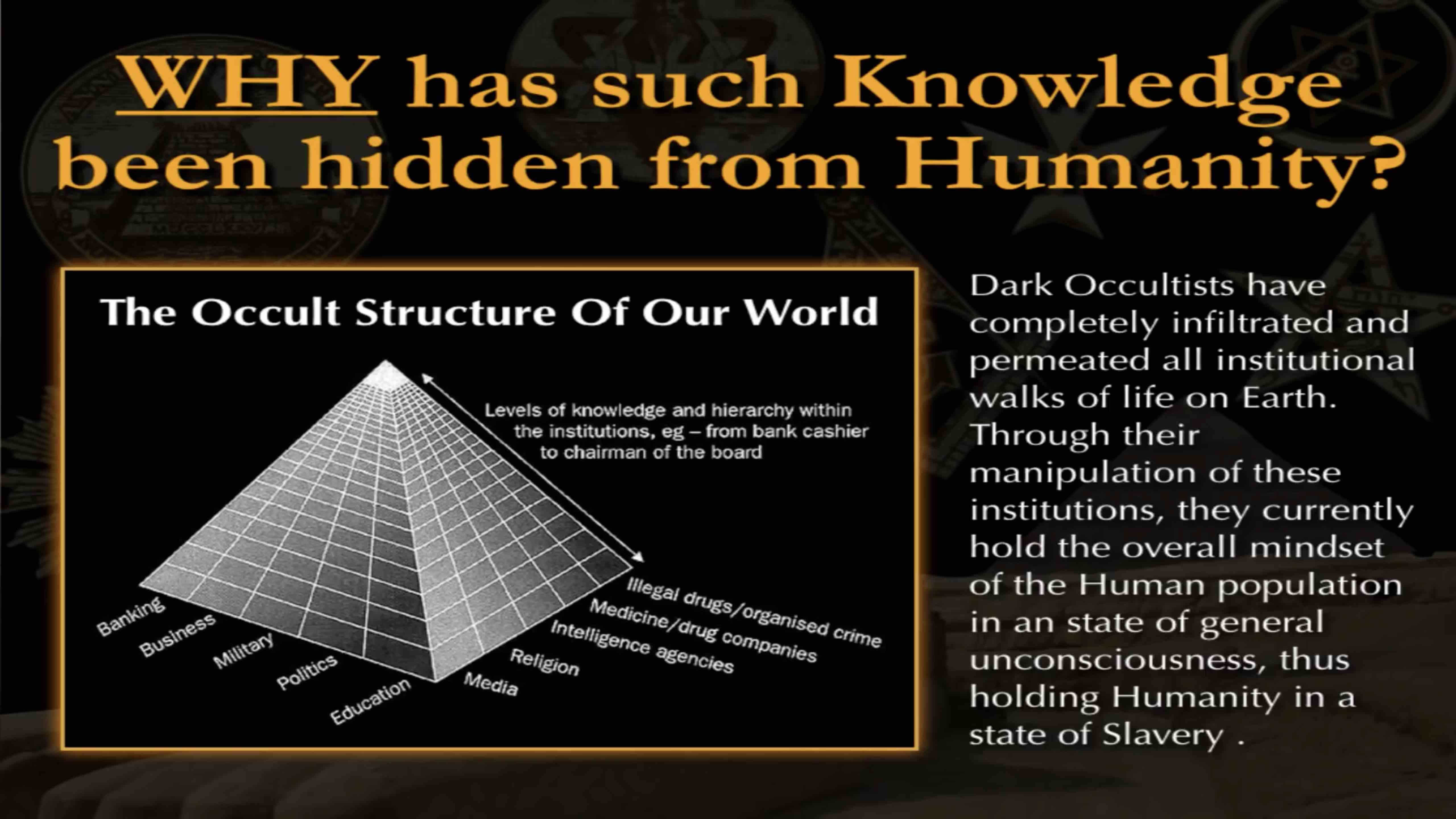 Why is knowledge hidden? De-Mystifying The Occult - Mark Passio