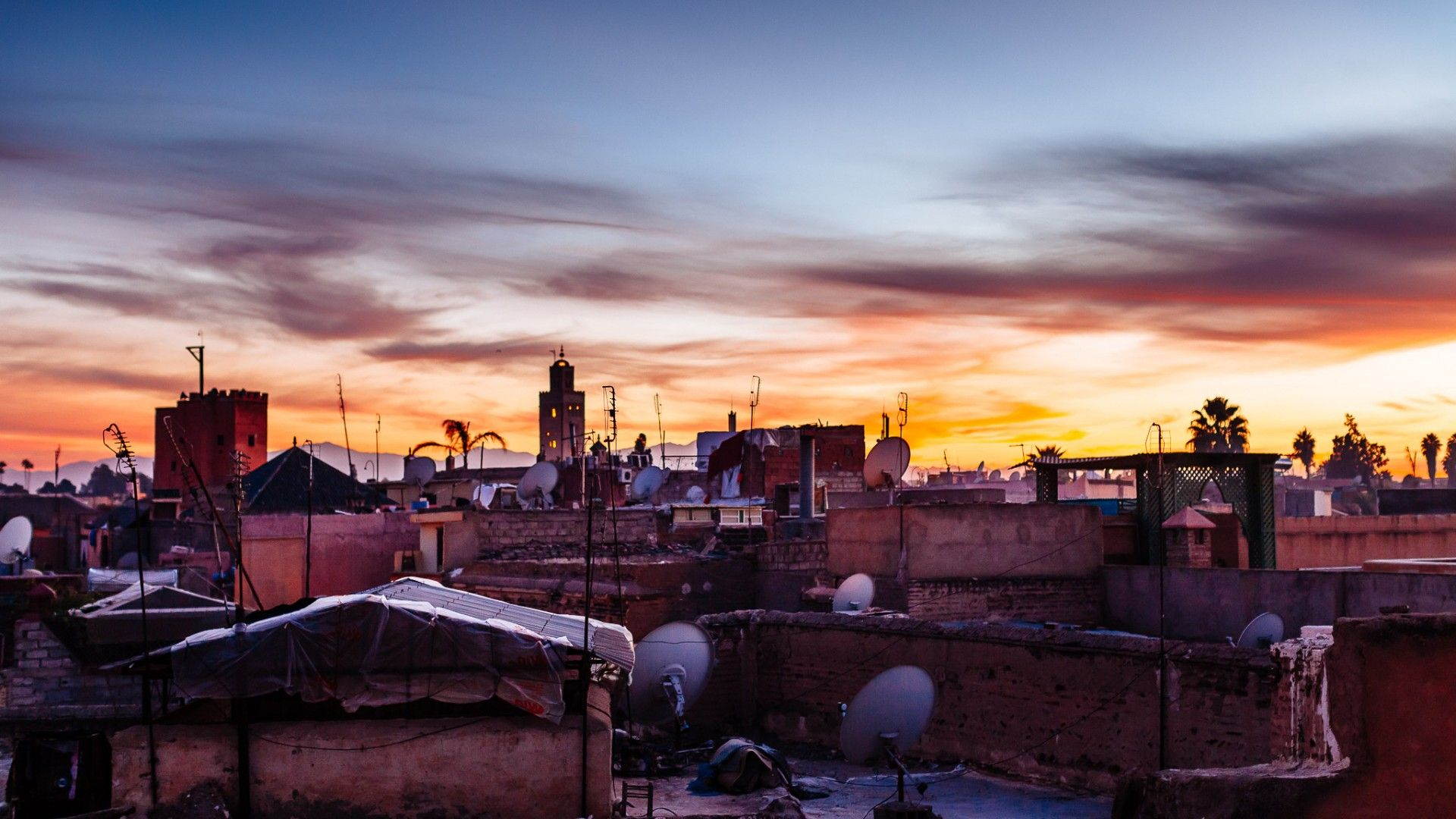 Marrakech Rooftops at Sunset