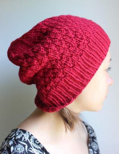 d6c8ad3c6 Red Slouchy Wool Beanie, Slouchy Hat, Hipster Hat for Women and ...