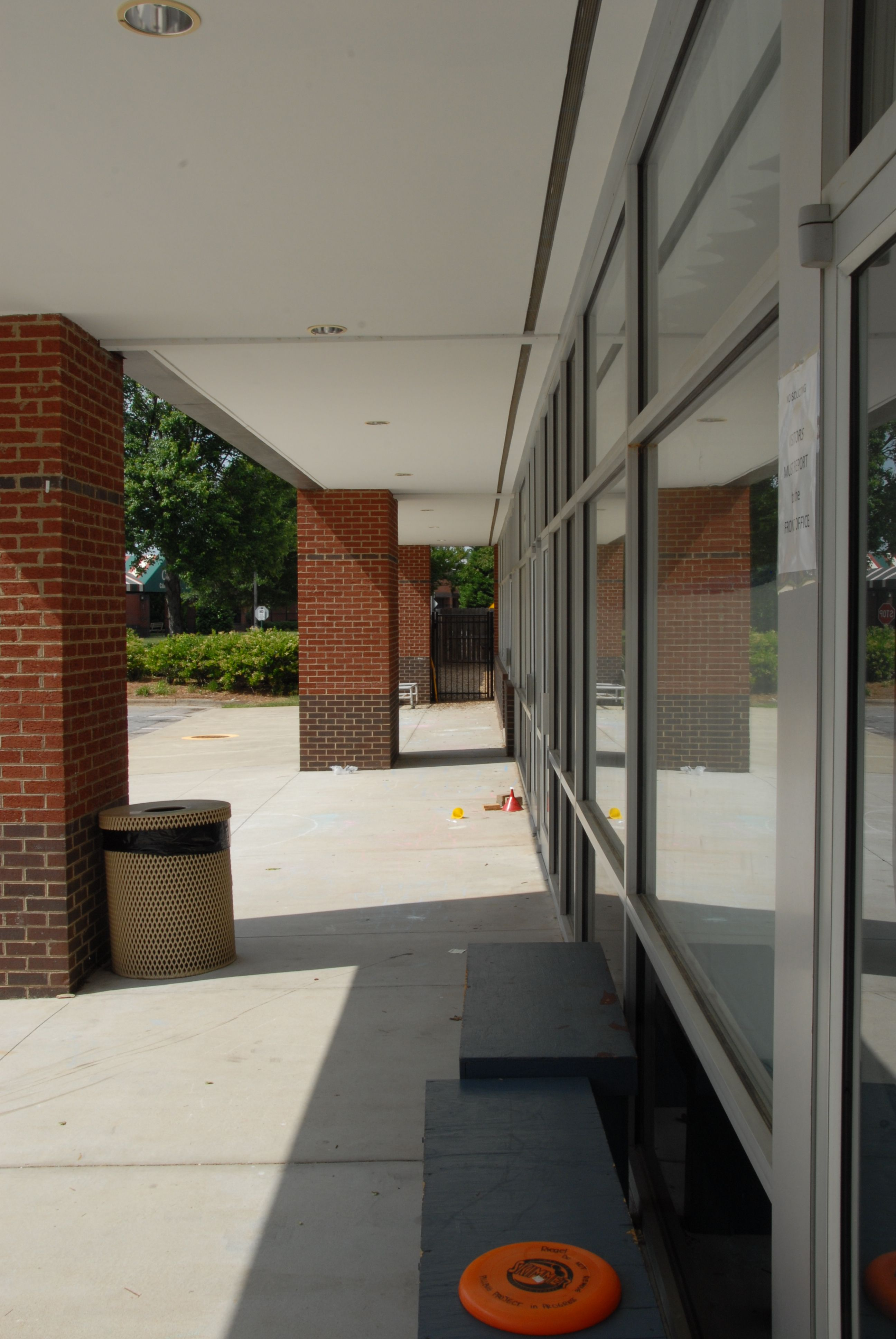 This Is The Overhang In Front Of Our School At 9400 Forum Drive Raleigh