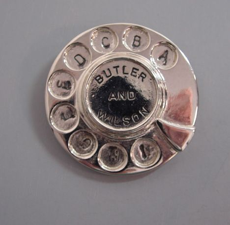 Butler and Wilson telephone dial brooch