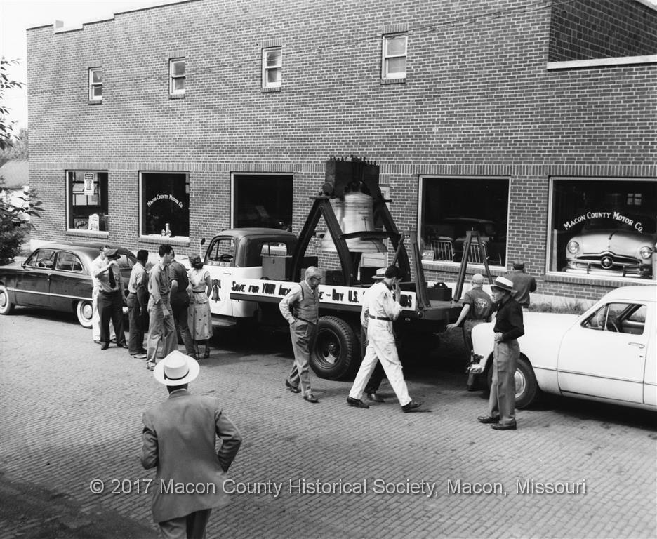 Macon County Motor Company Ford Dealership Macon Mo 1950
