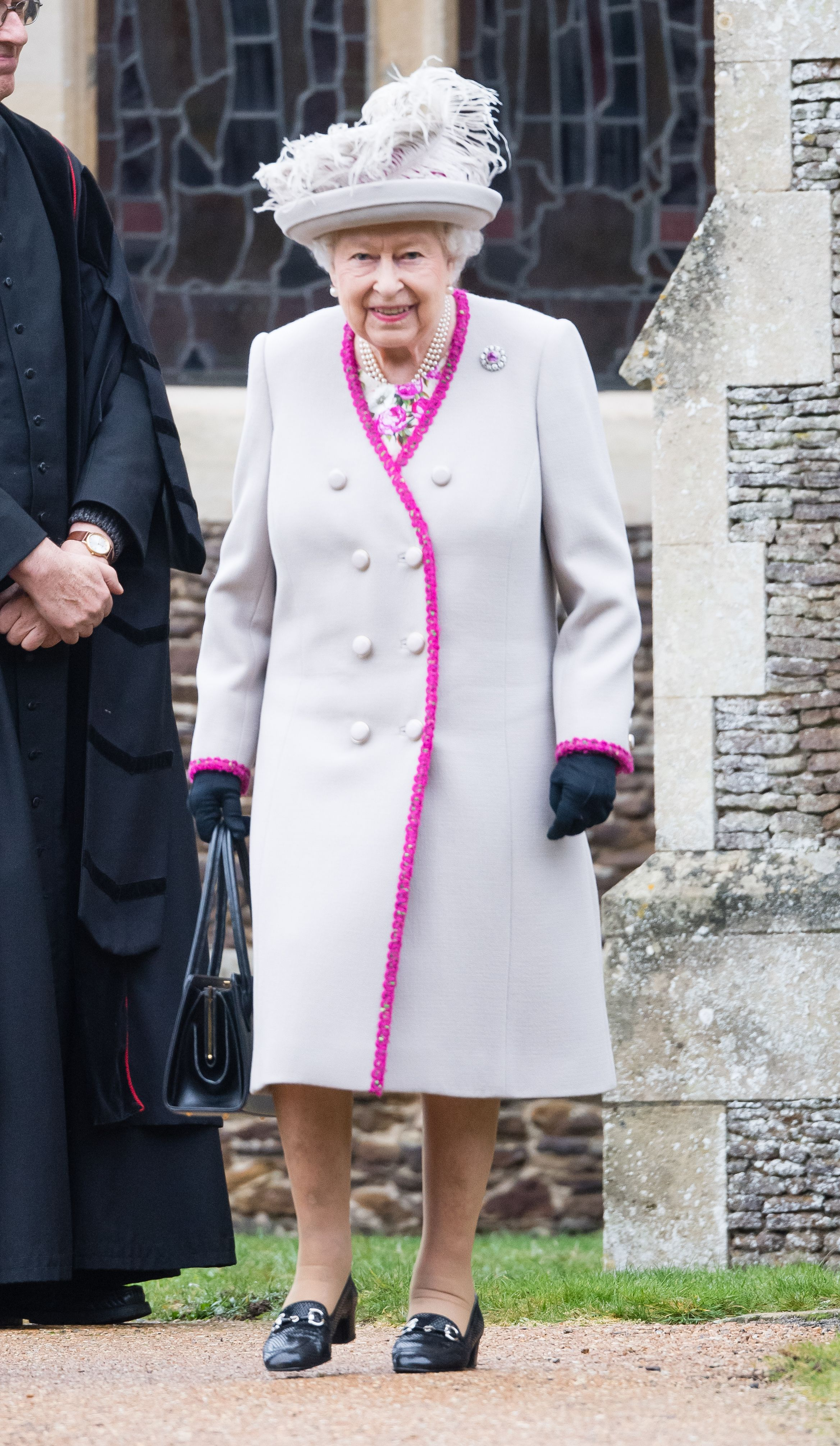 Queen Elizabeth Christmas Churhc Service 2020 William, Kate, Harry, and Meghan Are Front and Center During the