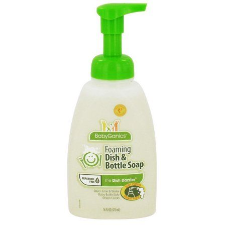 Babyganics Foaming Dish Bottle Soap Fragrance Free 16 Fl Oz In