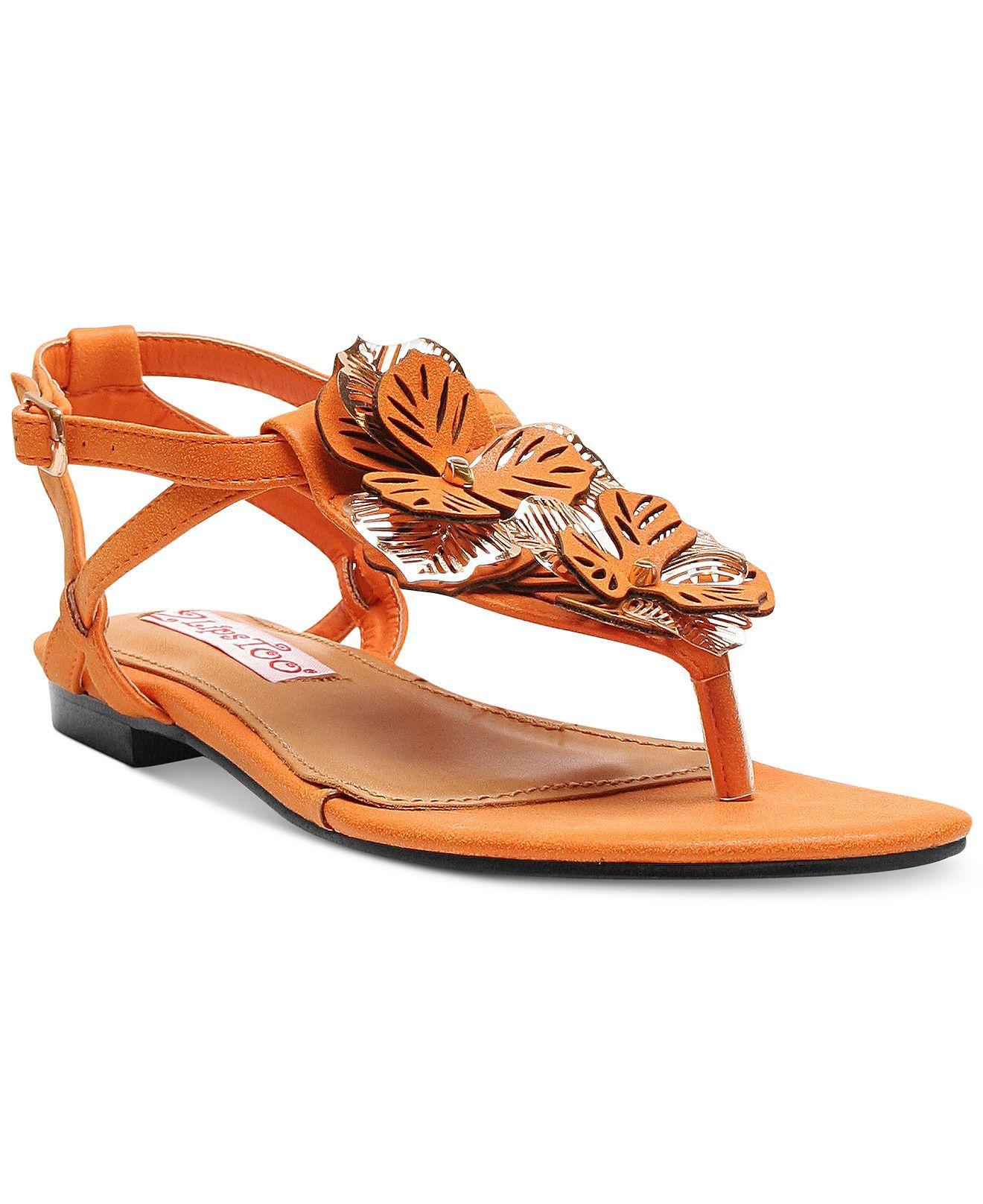 7f2fd50014e Two Lips Too Neroli Flat Thong Sandals - Sandals - Shoes - Macy s ...
