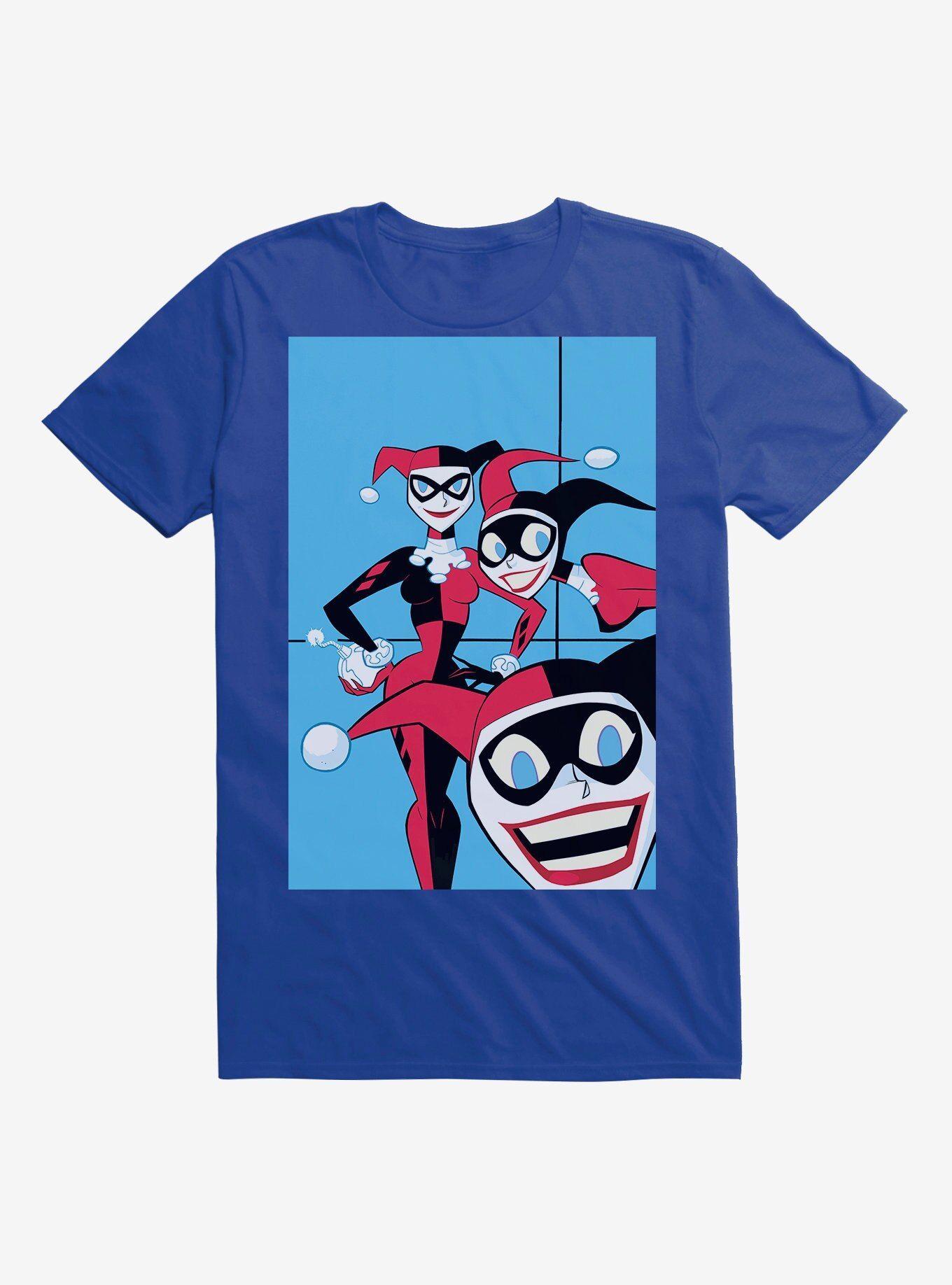 - DC Comics Batman Harley Quinn Clones Royal Blue T-Shirt, ROYAL BLUE  , Long Sleeve, Sweatshirt,