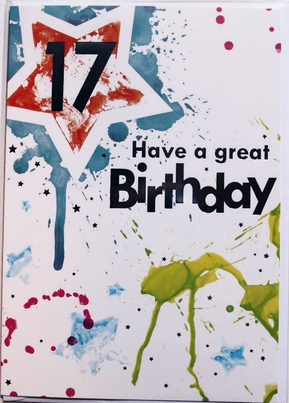 Have A Great 17th Birthday Card Suitable For Male Or Female Paint