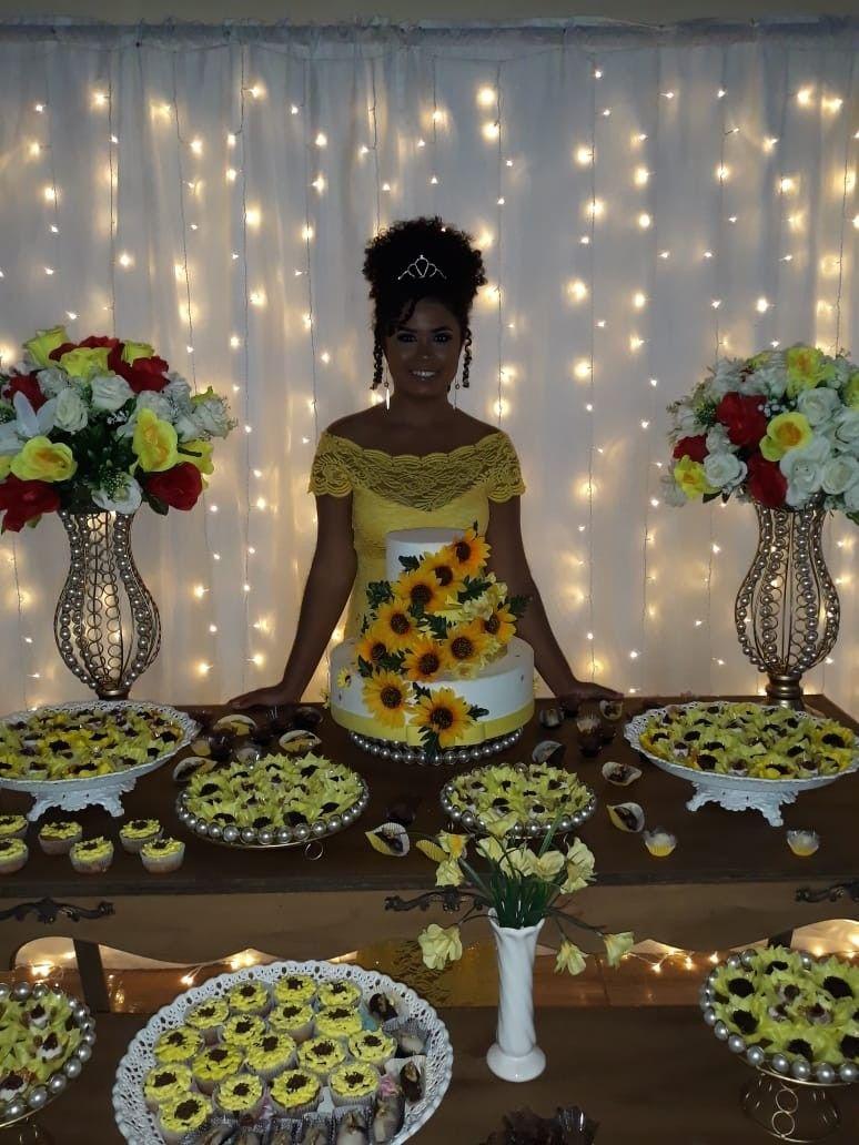 party festa aniversário decoraç u00e3o sunflower girassol Para meu aniversário en 2019 Festas de  -> Decoração De Festa De Aniversario Girassol