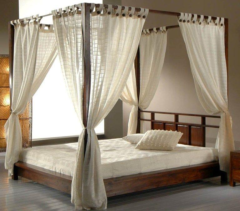 Canopy Bed Lit Baldaquin Lit A Baldaquin En Bois Lit En Bois Moderne