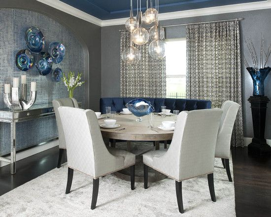 Settee with table for kitchen ideas Dinette Table decor - comedores elegantes