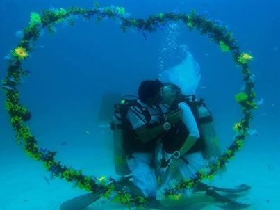 Love is in the Air and under Water - Valentine's Day is coming soon... - Why not surprising your loved one with a great Diving Experience... St Andrews Divers Cove