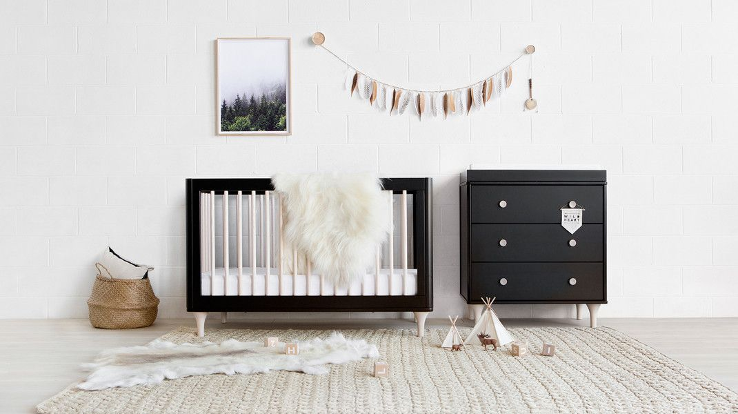 Babyletto Lolly Package Black And Washed Natural Modern