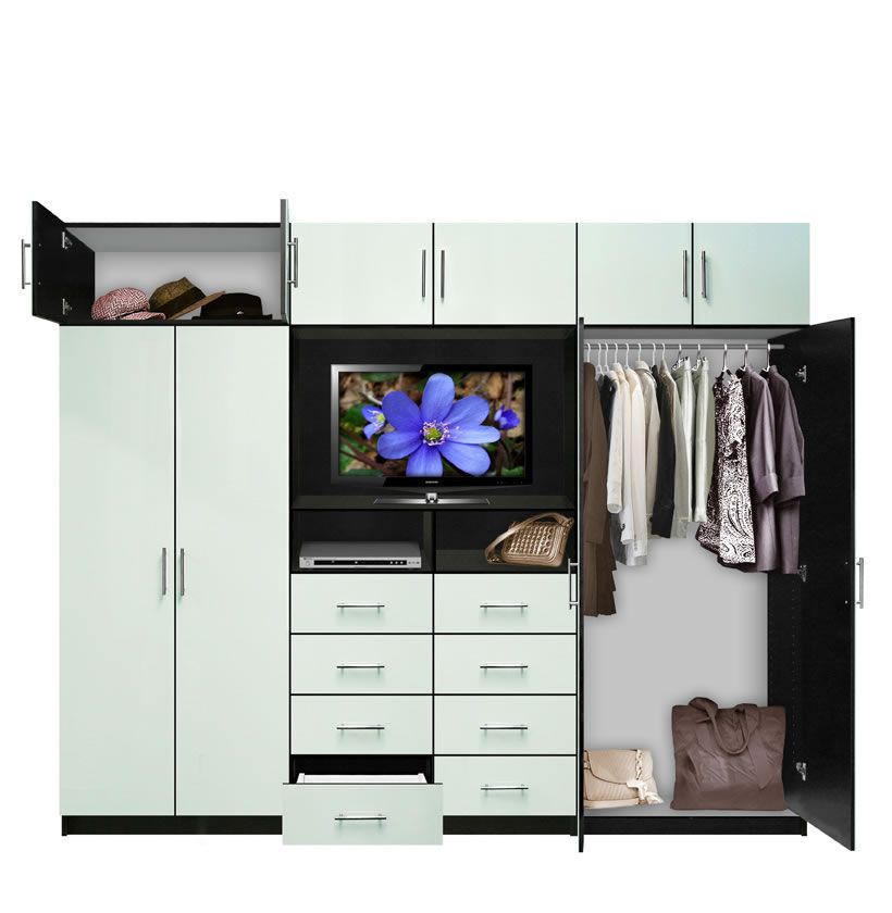 Gentil Aventa TV Wall Unit X Tall   10 Door Wardrobe Wall Unit For Bedrooms