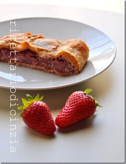 Strudel strawberry, vanilla e ricotta