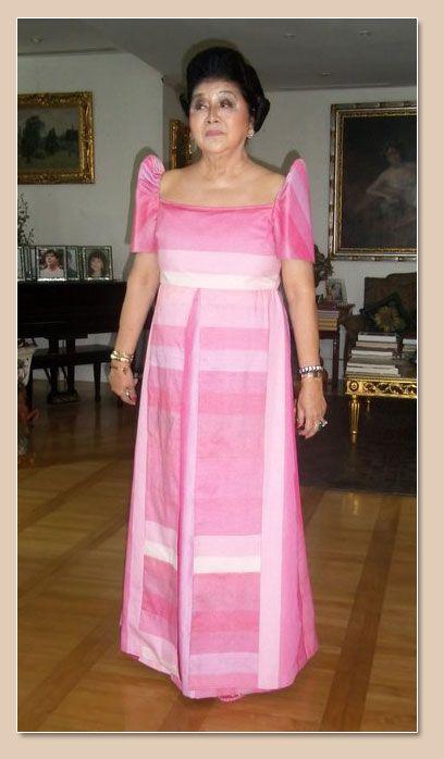 Imelda Marcos in simple yet classy Filipinana dress. | Filipinanas ...