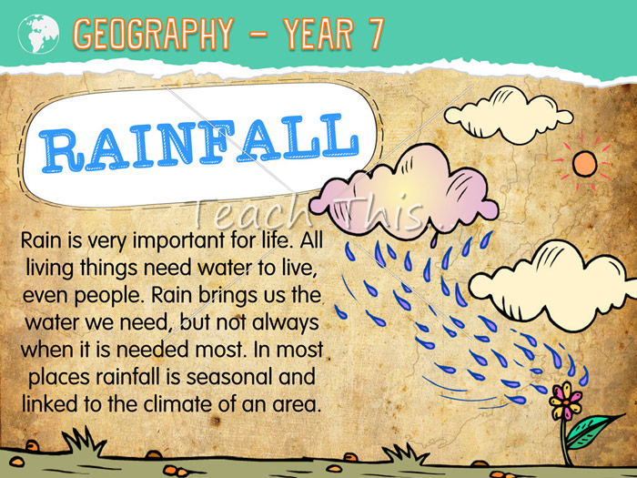 Rainfall Posters - year 7 | Humanities | Pinterest | Geography ...