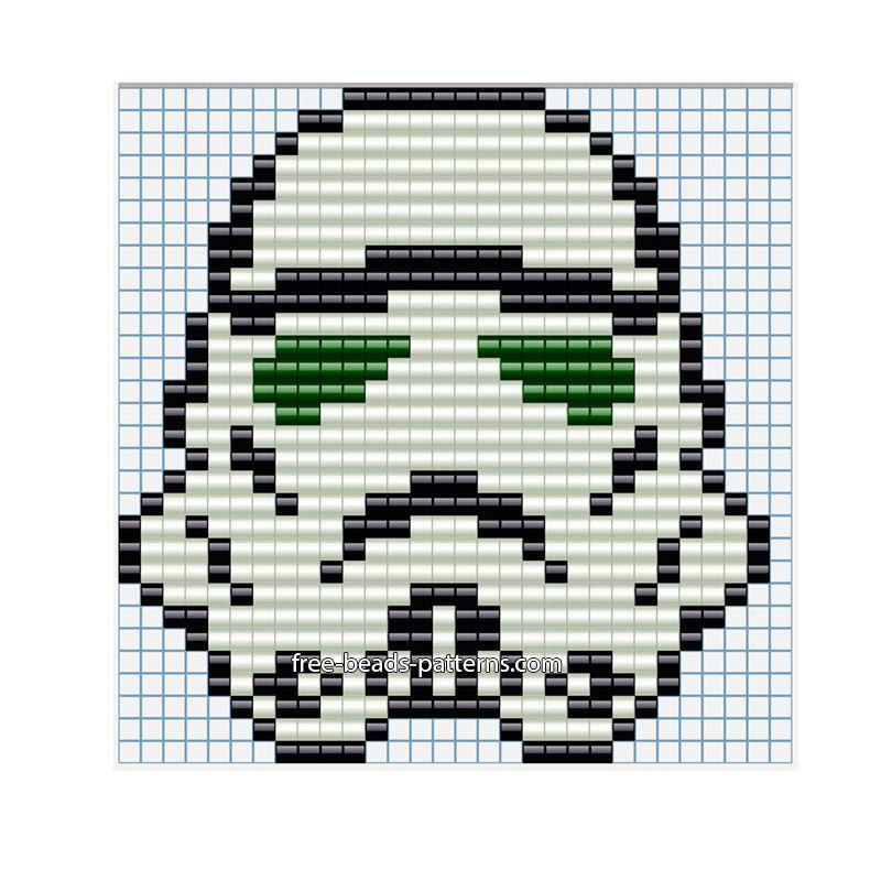 Star Wars Stormtrooper Helmet Free Perler Beads Hama Beads Pattern Custom Free Perler Bead Patterns