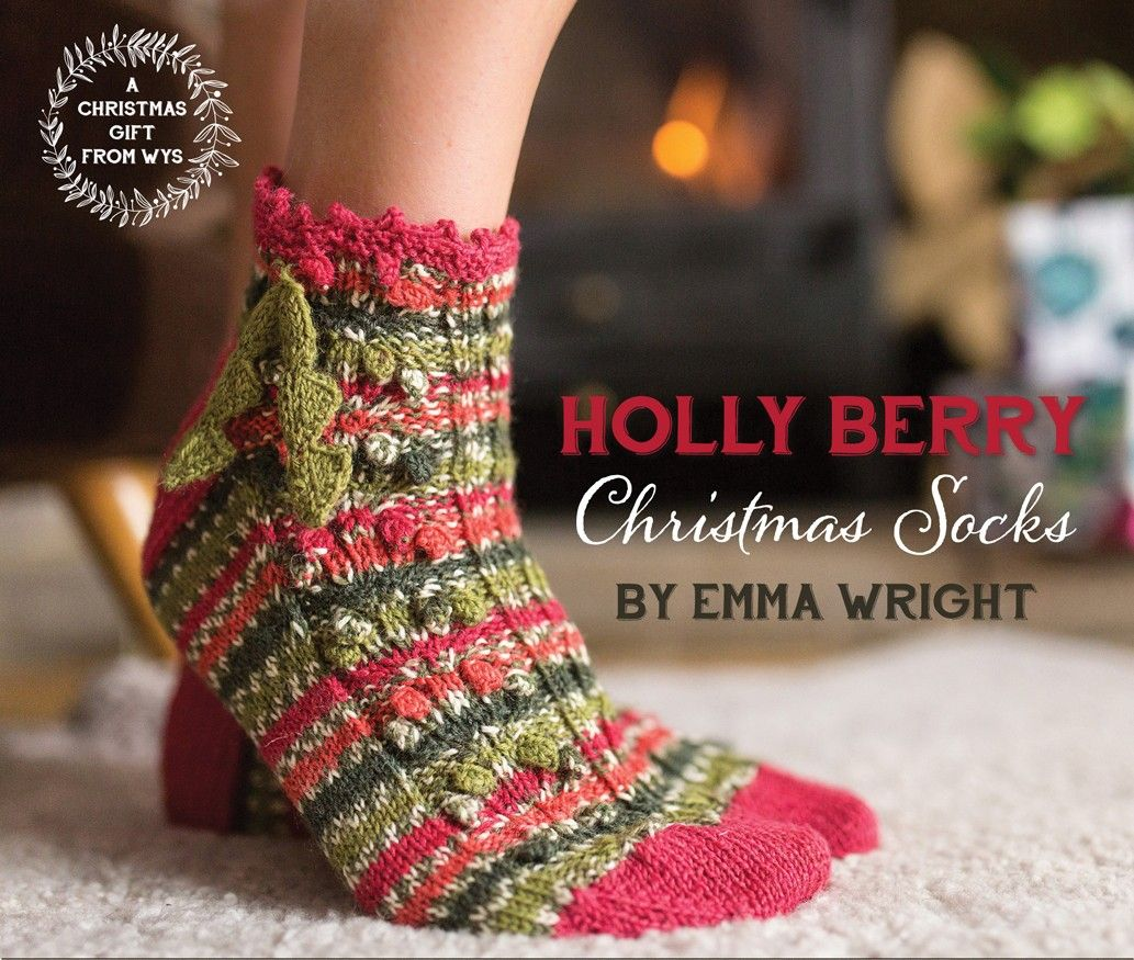 FREE Sock Pattern by Mary Beth Temple - Holly Berry Christmas Socks ...