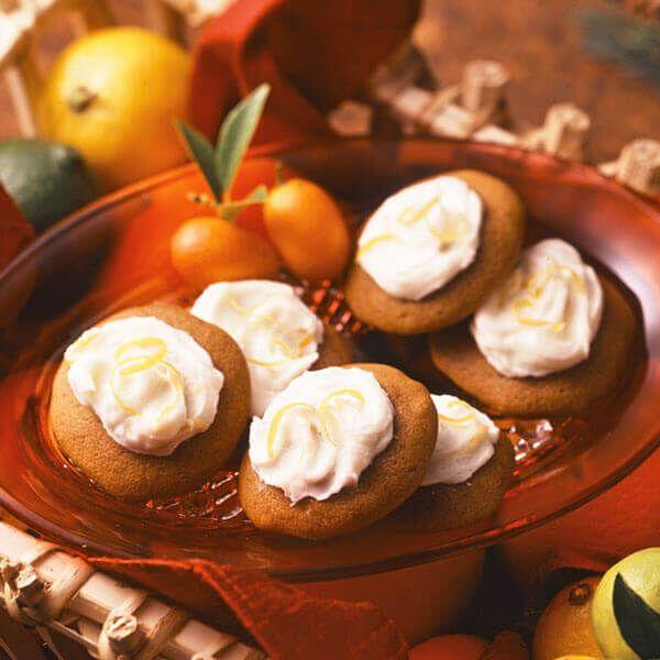 Lemon Frosted Ginger Cookies #lemonfrosting