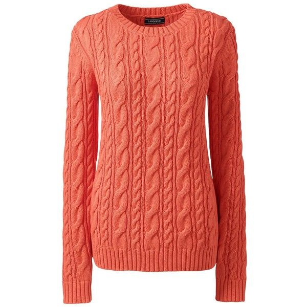 Lands' End Women's Petite Cotton Sweater - Drifter (3.500 RUB) via ...