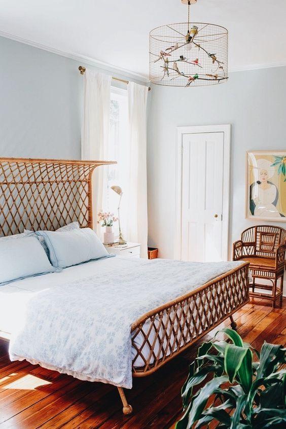 ein Schlafzimmer mit einem Hauch Retro Schlafzimmer