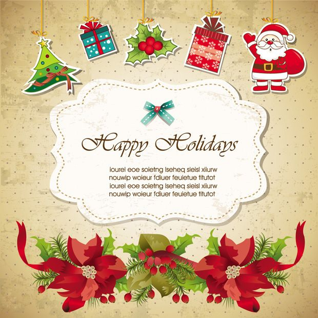 Tarjeta De Invitación Para Navidad En Vectores Tarjetas De
