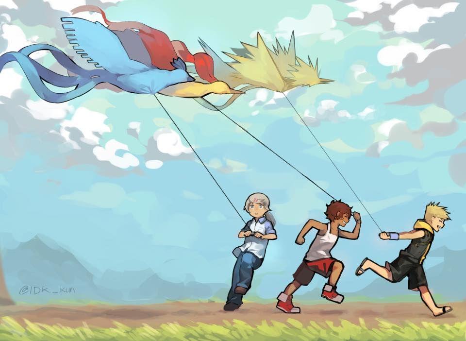 Pokemon Go Fan Art Flying Kites Dessin Pokemon Dessin Zelda