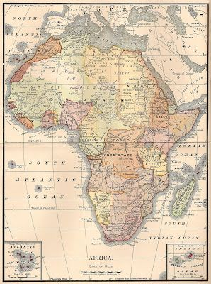 34677a4aa4 CatnipStudioCollage-  Free Vintage Clip Art - Map of Africa 1901 ...